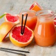 Grapefruit juice and grapefruit — Foto de Stock