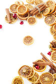 Dried oranges isolated on white — Stock Photo
