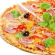 Pizza isolated on white  — Stockfoto
