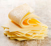 Slices of cheese — Stock Photo