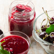 Stock Photo: Cherry jam