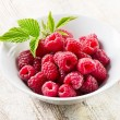 Fresh raspberries .Selective focus — Stock Photo