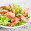 Green salad with shrimps — Stock Photo #28259777