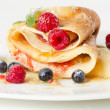 Stock Photo: Crepes with berries