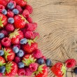 Foto de Stock  : Fresh berries
