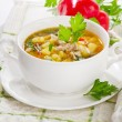 Chicken soup with vegetables — Stock Photo #29773583