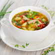 Chicken soup with vegetables — Stock Photo