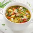 Chicken soup with vegetables — Stock Photo #29774587