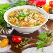 Bowl of vegetable Soup — Stock Photo