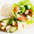 Tortilla wraps with chicken — Stock Photo #29778349