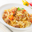 Pasta bolognese — Stock Photo