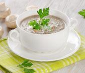 Creamy mushroom soup — Stockfoto