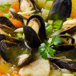 Seafood soup. — Stock Photo