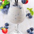Blueberry smoothie — Stock Photo
