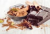 Broken chocolate bar — Stock Photo