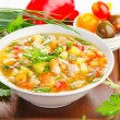 Bowl of vegetable Soup — Stock Photo #31084281
