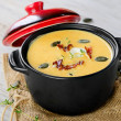 Creamy pumpkin soup — Stock Photo