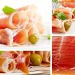 Collage with meat — Stock Photo