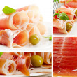 Collage with meat — Foto de Stock