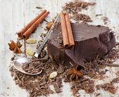Chocolate piece — Stock Photo