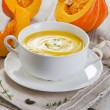 Stock Photo: Pumpkin soup