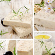 Collage of handmade soap — Stock Photo