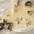 Baking christmas cookies — Stockfoto