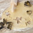 Stock Photo: Baking christmas cookies