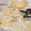 Baking christmas cookies — Stock Photo #34393877