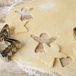 Baking christmas cookies — Stock Photo #34422757