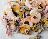 Raw Mixed seafood — Stockfoto