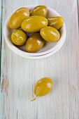 Green olives. — Stockfoto