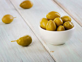 Green olives. — Stock Photo