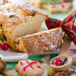 Christmas cake and cookies — Stock Photo #36197275