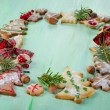 Homemade christmas cookies — Stock Photo #36197325