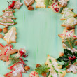 Homemade christmas cookies — Stock Photo
