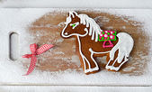 Gingerbread horse — Stock Photo