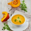 Creamy pumpkin soup o — Stock Photo #36419129