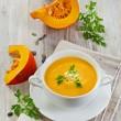 Creamy pumpkin soup o — Stock Photo #36419129