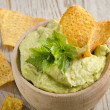 Stock Photo: Guacamole on table