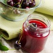 Stock Photo: Cheery jam .Selective focus