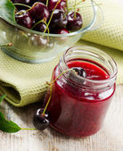 Cheery jam .Selective focus — Stock Photo