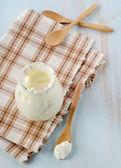 Fresh yogurt — Stock Photo