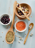 Beans and lentils — Stock Photo