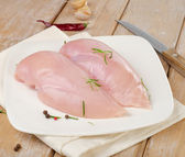 Raw chicken breast fillets — Stock Photo