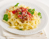 Italian food - Pasta bolognese — Stock Photo
