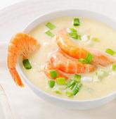 Cremosa zuppa con frutti di mare — Foto Stock