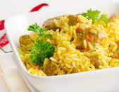 Traditional oriental pilaf — Stock Photo
