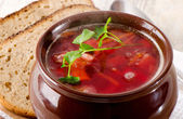 Beetroot soup  — Stock Photo