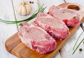 Pork steaks — Stock Photo